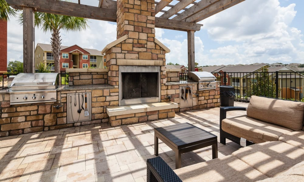 Luxury fireplace at apartments in Clermont, Florida