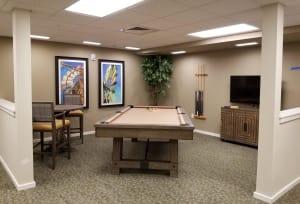 Billiards at Juniper Springs Senior Living