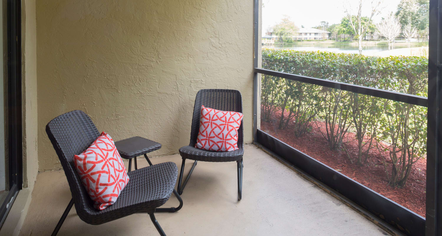 Resident patio at Siena Apartments in Plantation, Florida