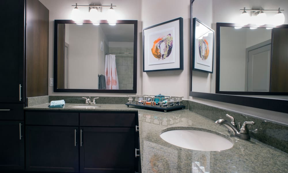 Large resident bathroom at Savannah Oaks in San Antonio, Texas