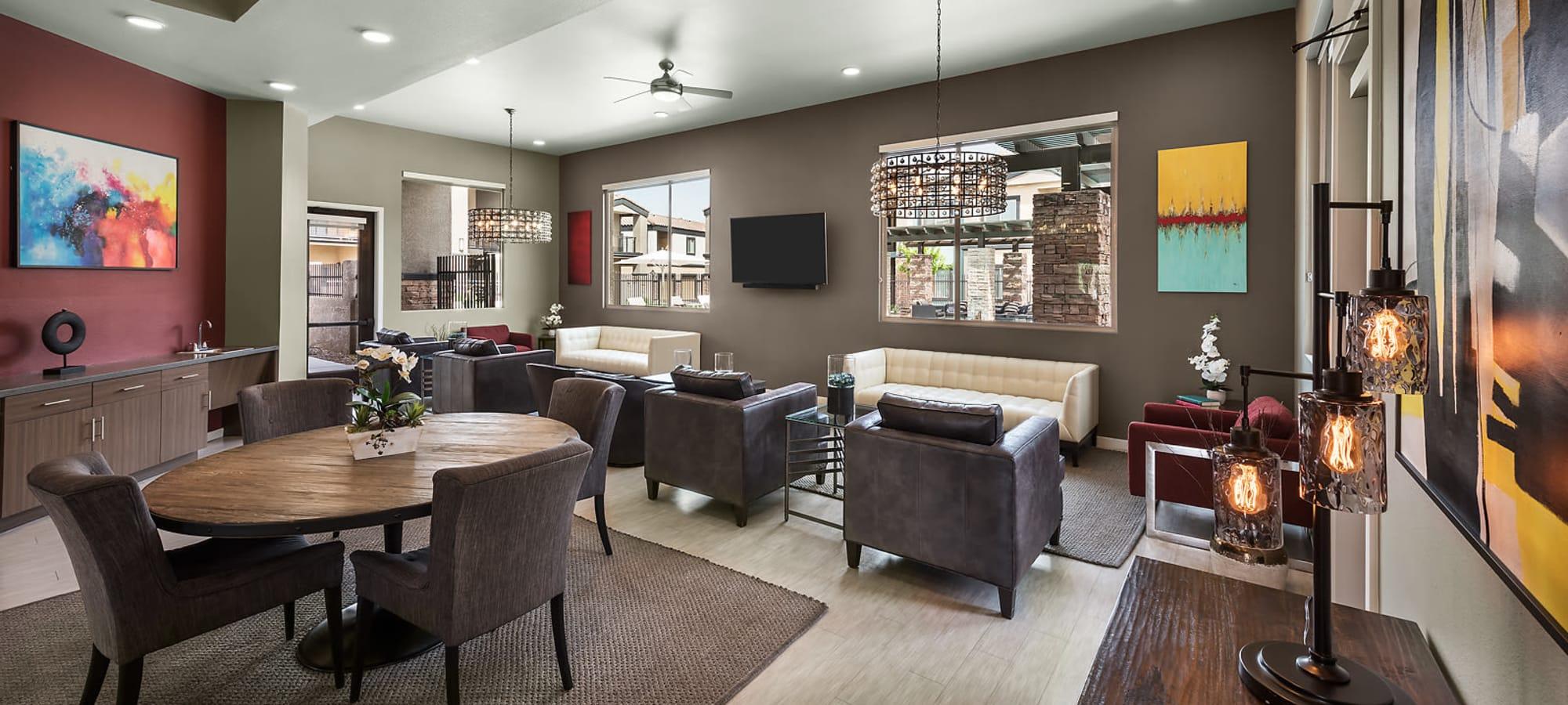 Community lounge at The Maxx 159 in Goodyear, Arizona