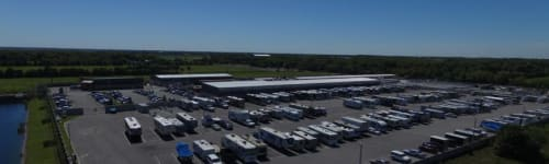 Boat, RV and automobile parking at Park 4 Dayz in Sanford, Florida