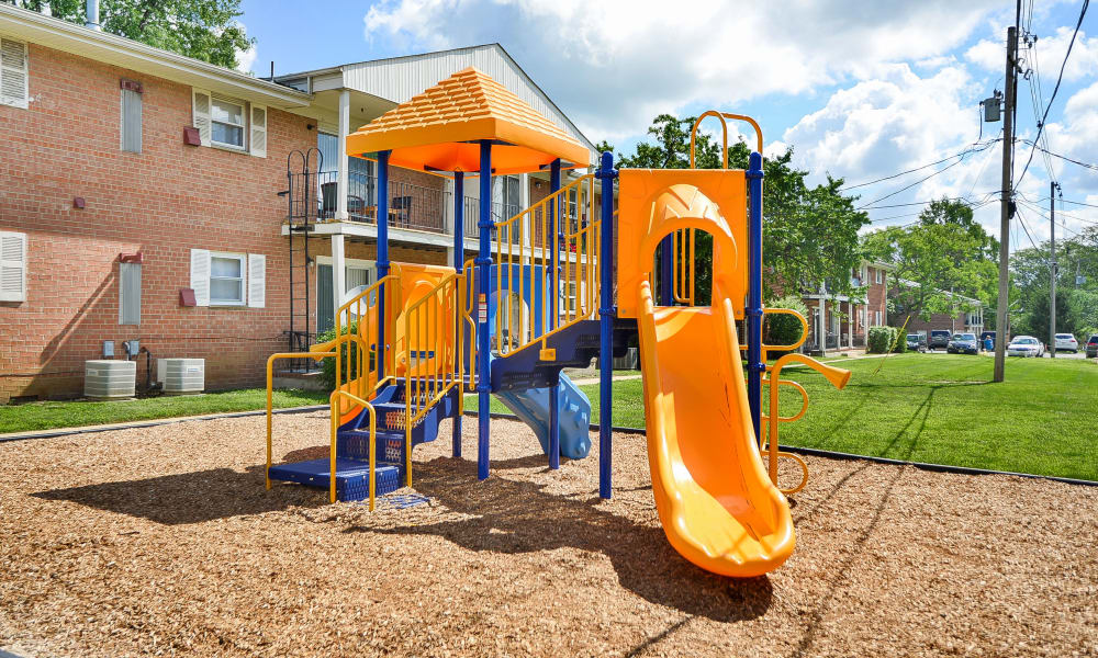 Post & Coach Apartment Homes offers a playground in Freehold, NJ
