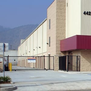 Gated entrance to A-1 Self Storage in Glendale, California