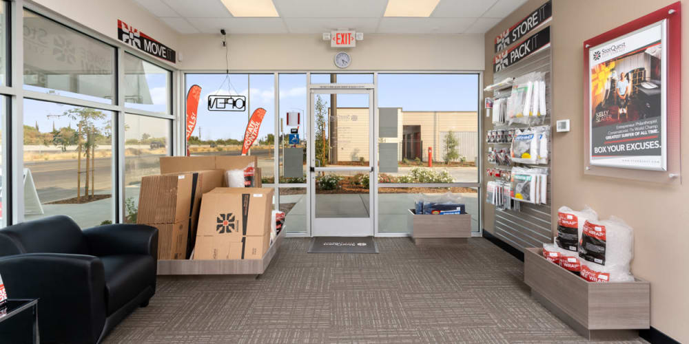Packing supplies available at StorQuest Self Storage in Fresno, California
