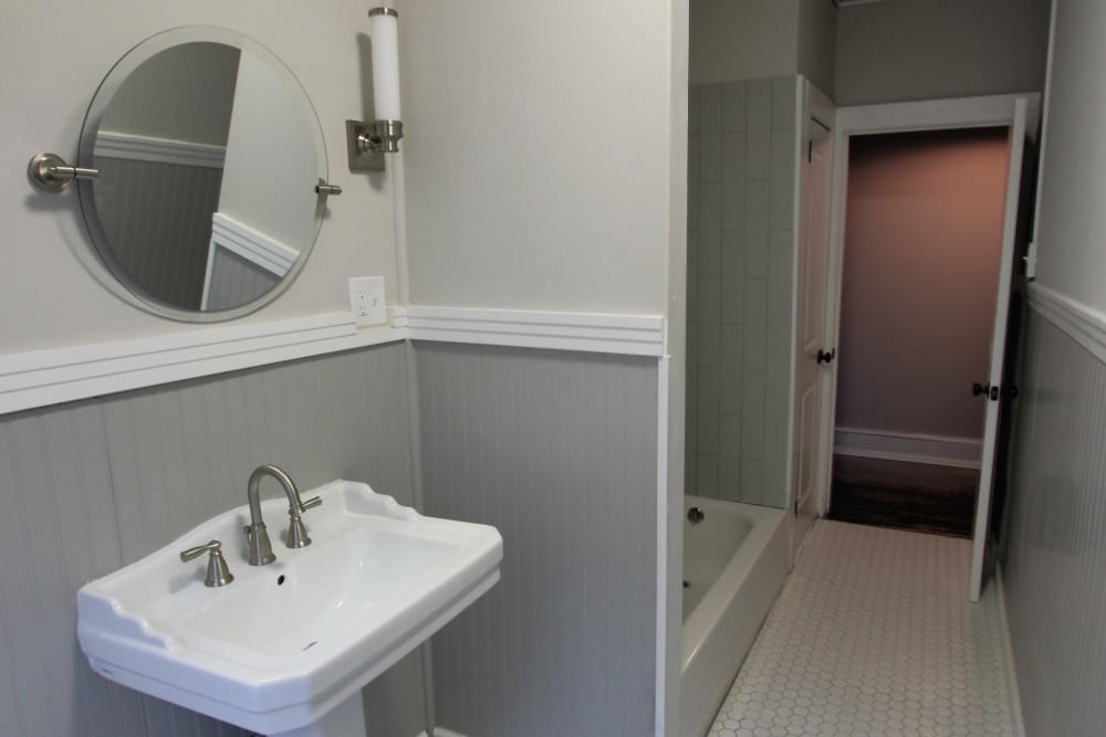 Example bathroom at apartments in West Hartford