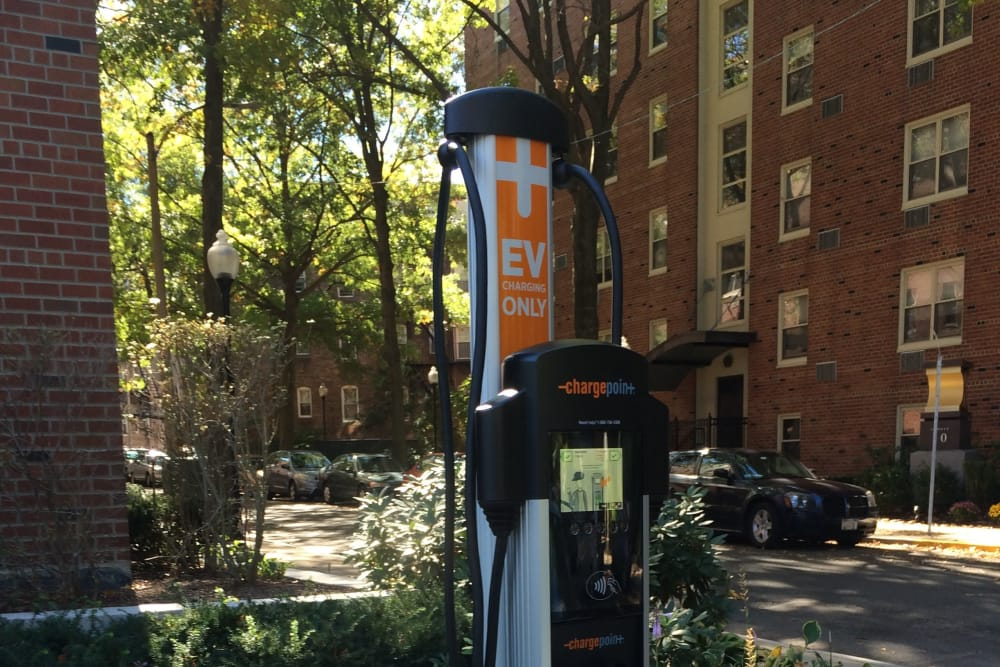 EV Charging Station at Camelot Court in Brighton, Massachusetts