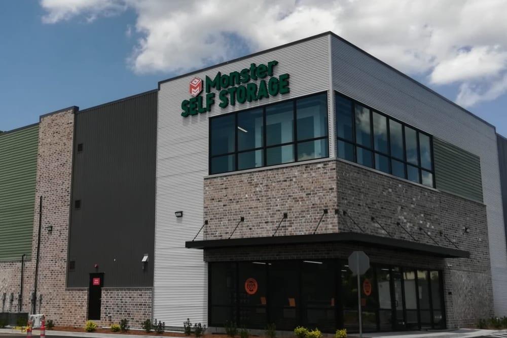 Storage facility front entrance in Savannah, GA