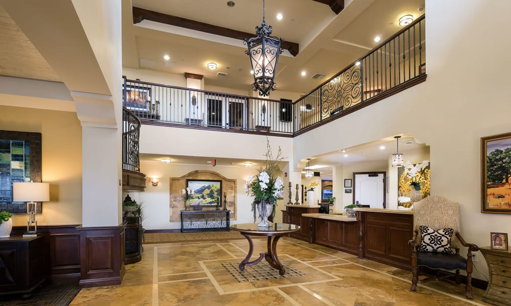 Our senior living community in Corona, California offer a common area