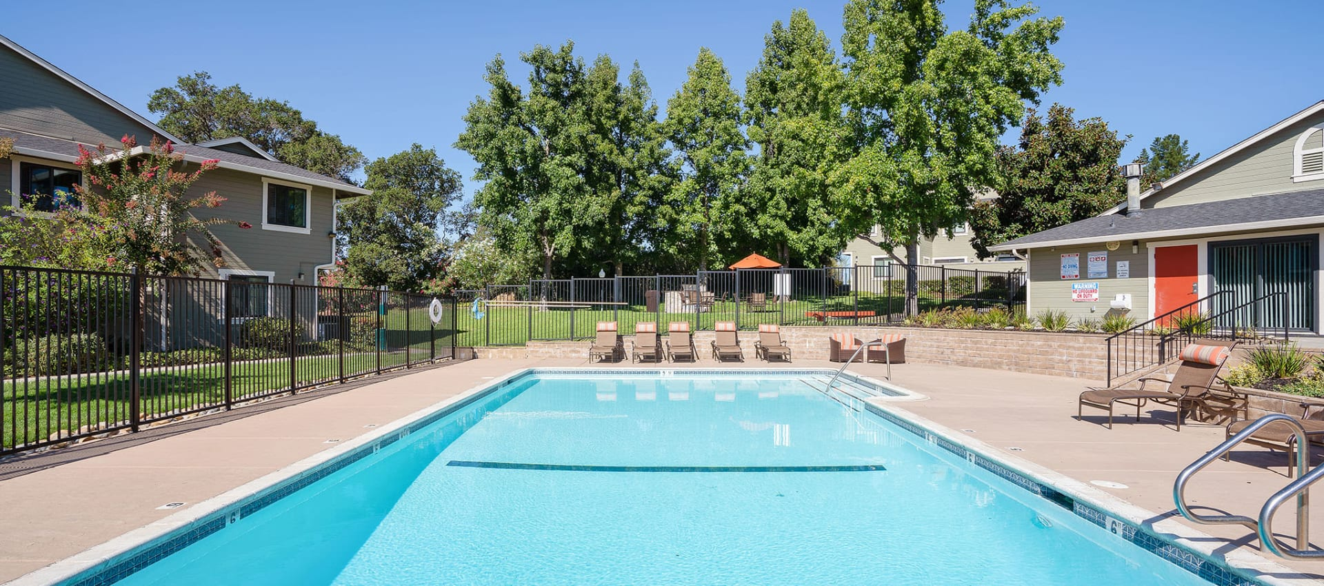 Large swimming pool at Ridgecrest Apartment Homes in Martinez, California
