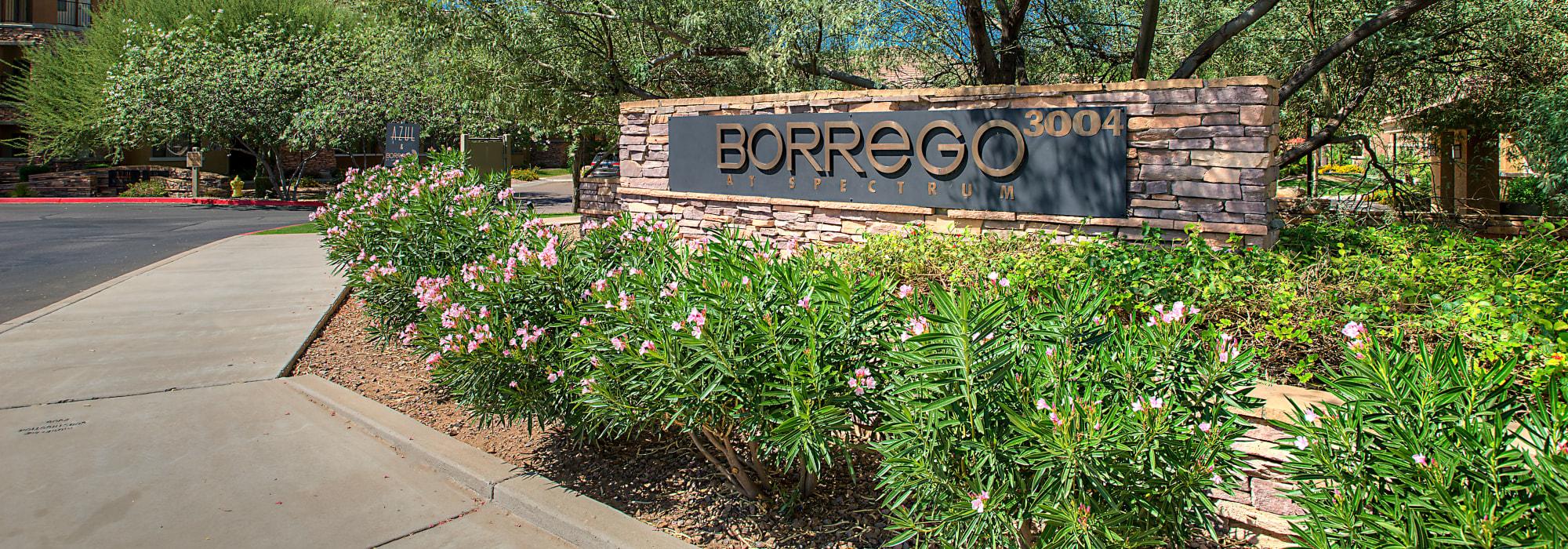 Entrance to Borrego at Spectrum in Gilbert, Arizona