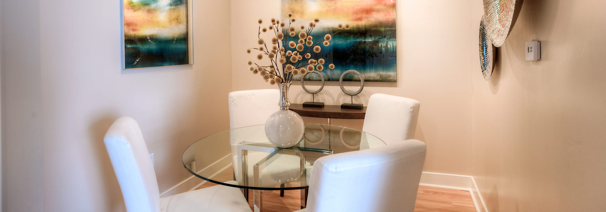 Dining nook in model apartment home at Level at Sixteenth in Phoenix, Arizona