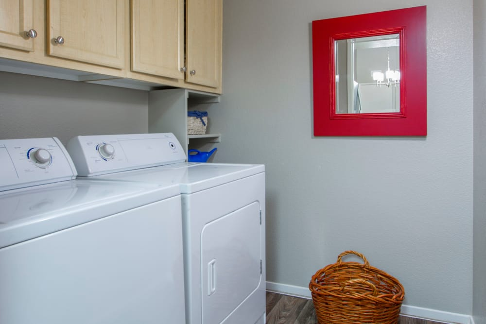 Laundry room at Cielo Apartment Homes in Henderson, Nevada