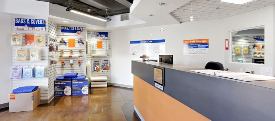 The front office at A-1 Self Storage in San Diego, California