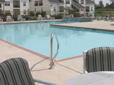 Swimming pool at apartments in Hattiesburg, Mississippi