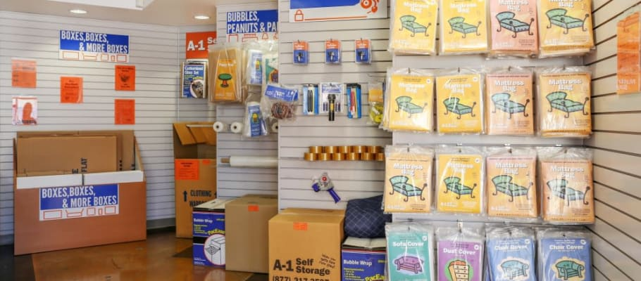 Storage and moving supplies available from A-1 Self Storage in North Hollywood, California
