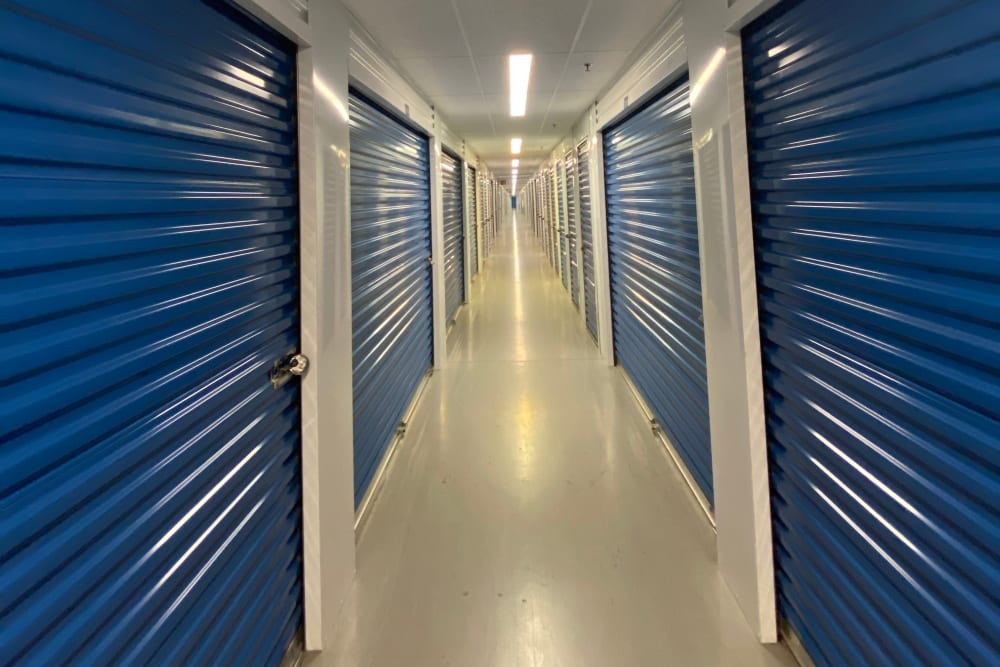 Hallway at Superior Self Storage in Sacramento, California