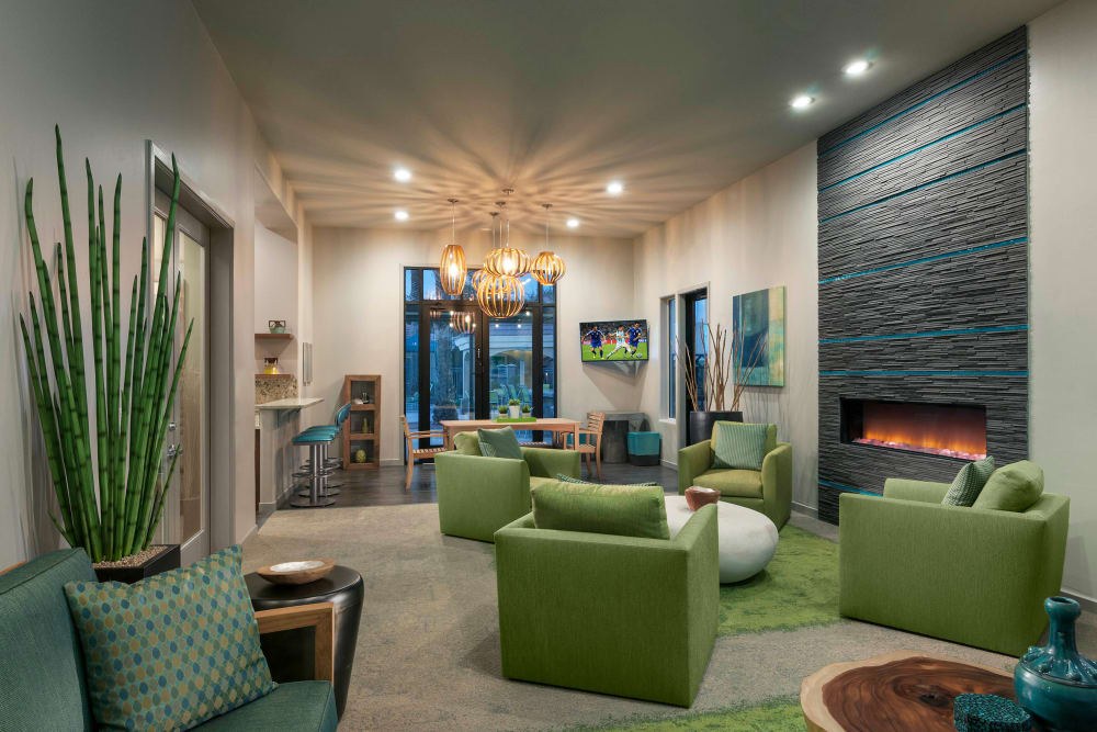 Spacious clubhouse at Mira Santi in Chandler, Arizona