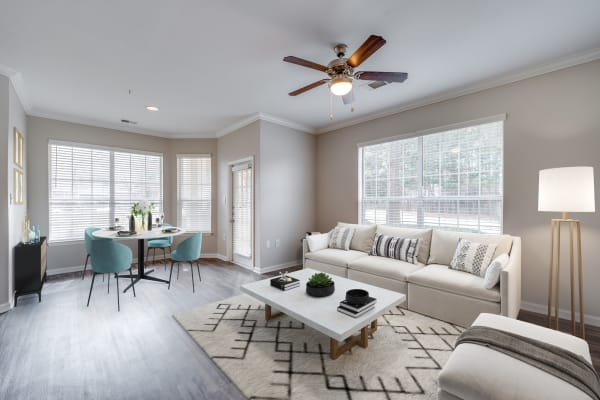 Large living room interior at Preston View in Morrisville, North Carolina