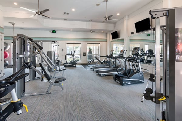 Treadmills and fitness equipment at Landings at Four Corners in Davenport, Florida