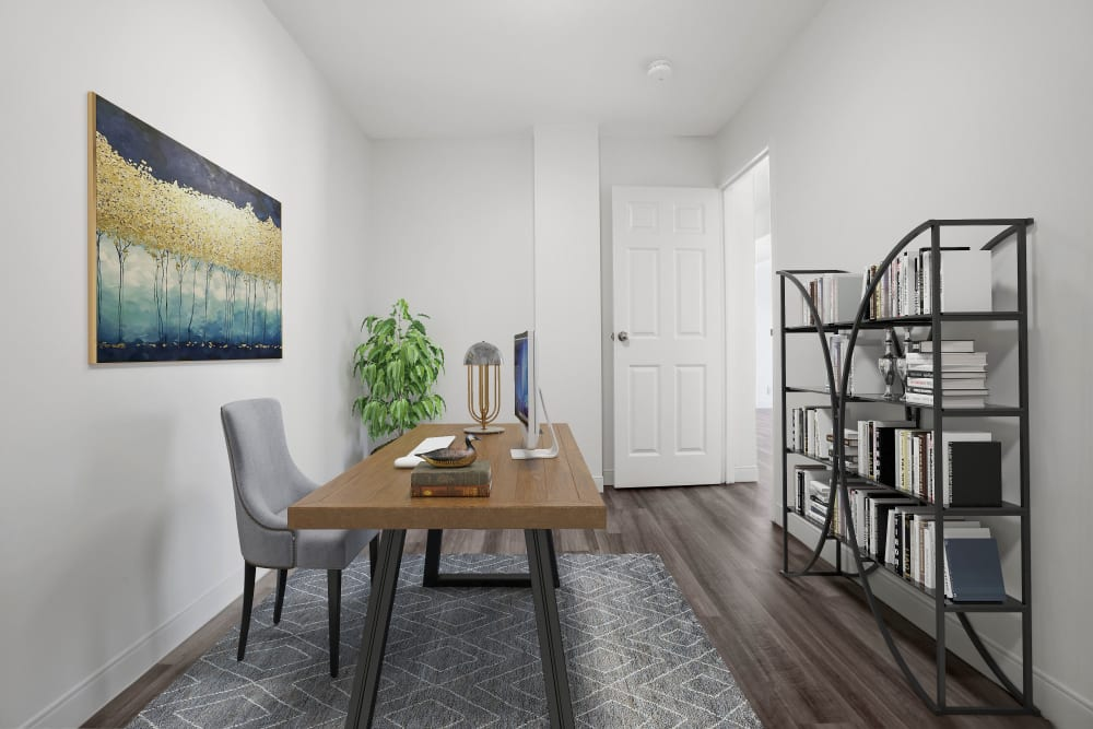 Living area at Stony Brook Commons in Roslindale, Massachusetts