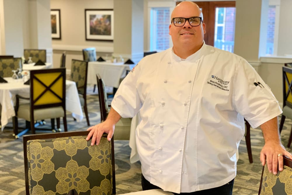 Delicious meals prepared by a chef at Harmony at Tucker Station in Louisville, Kentucky