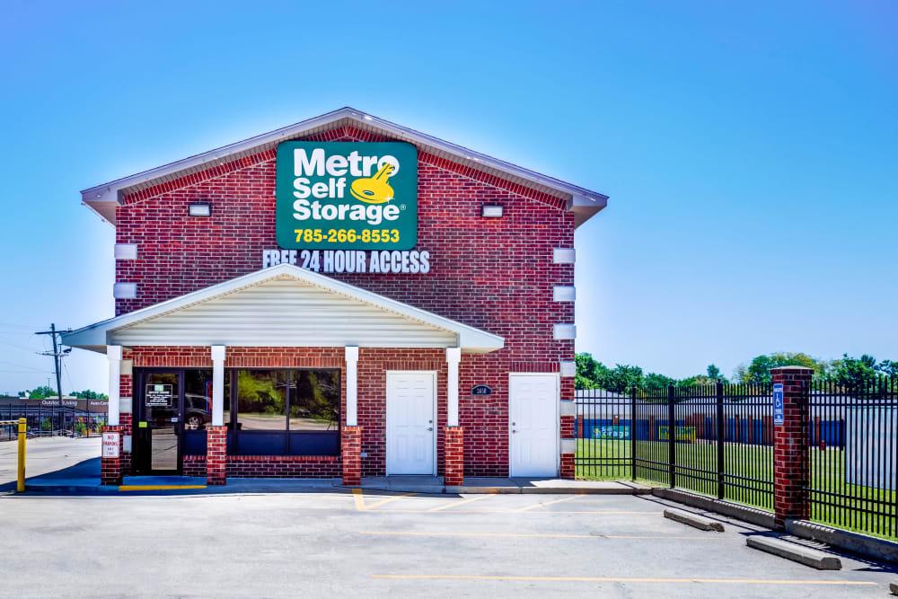 Leasing office entrance at Metro Self Storage in Topeka, Kansas