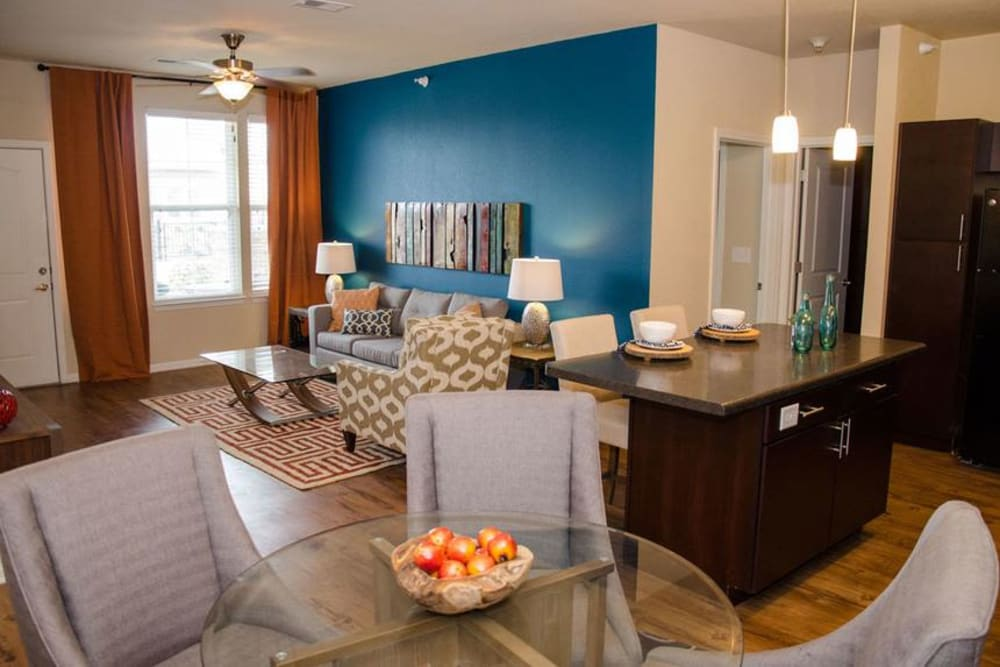 Open Concept Living Room at Springs at South Broadway in Rochester, MN