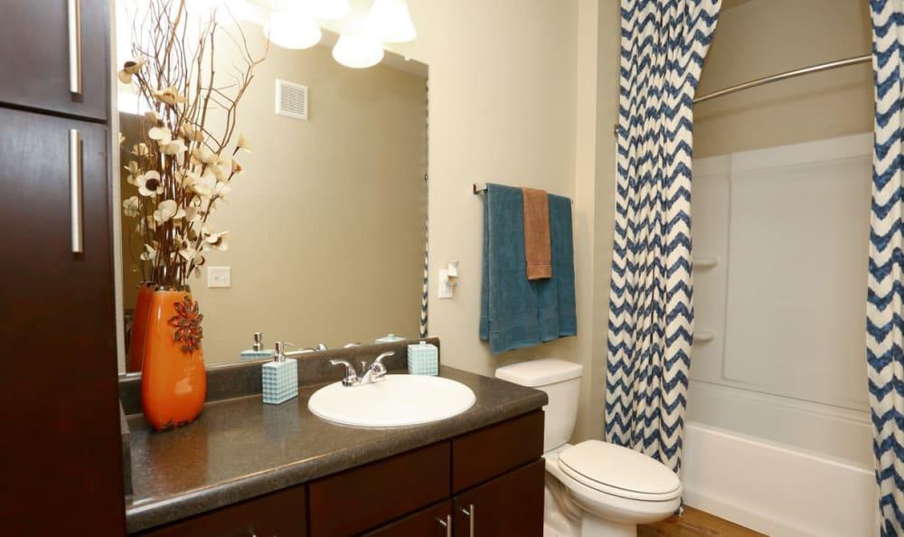updated bathroom at Springs at May Lakes in Oklahoma City, OK