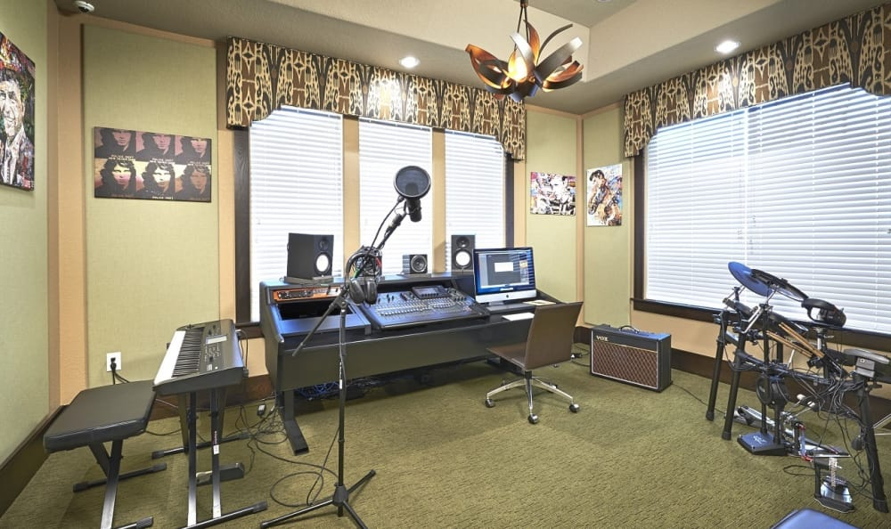 Music Studio at M2 Apartments in Denver, CO