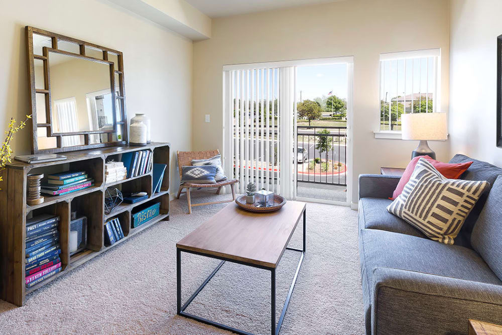 Comfy living room at Affinity at Southridge