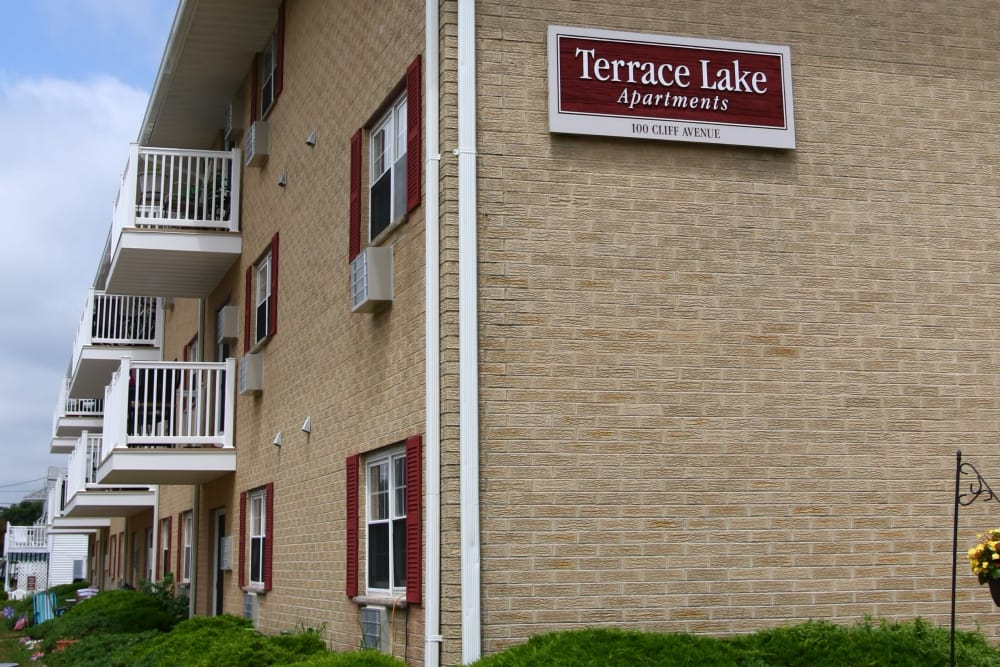 Private Balconies at Terrace Lake Apartments