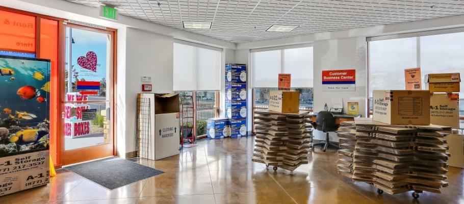 The leasing office at A-1 Self Storage in San Juan Capistrano, California