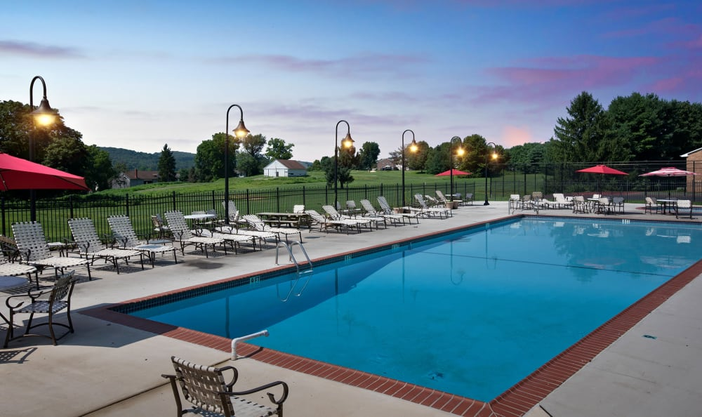 Pool At The Fairways Apartments and Townhomes For Rent In Thorndale, PA