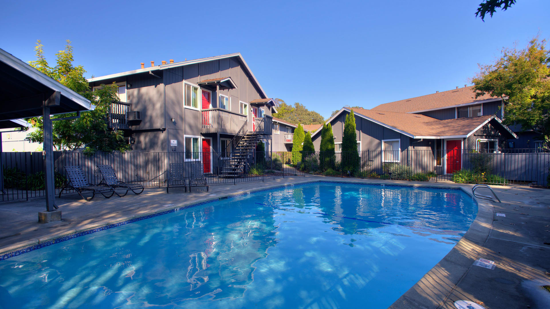 State-of-the-art swimming pool at Spring Lake Apartment Homes in Santa Rosa, California