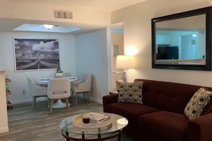 Sofa example at Sunrise Springs Apartments in Las Vegas, Nevada