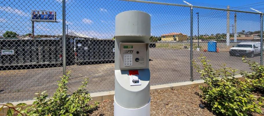 Keypad entry toA-1 Self Storage in San Diego, California
