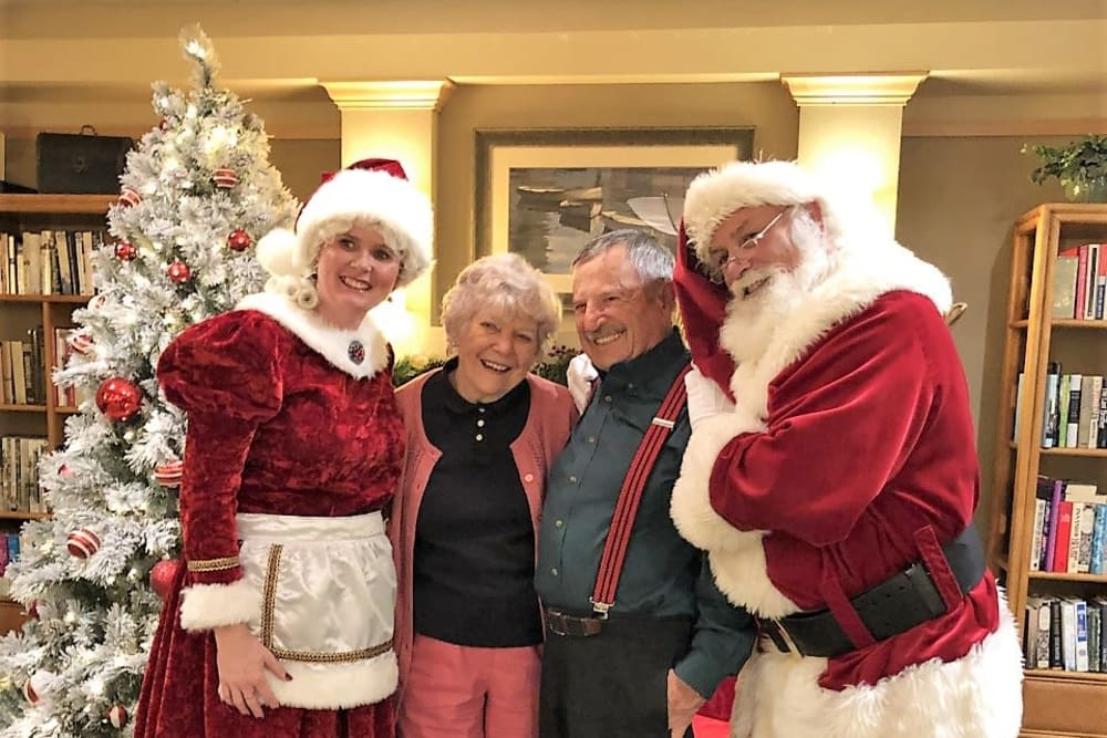 Christmas visit from Santa at Merrill Gardens at Bankers Hill in San Diego, California