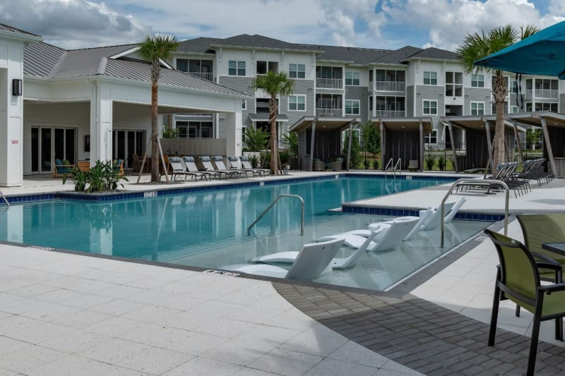 Outdoor poolside at Reunion at 400 in Kissimmee, Florida