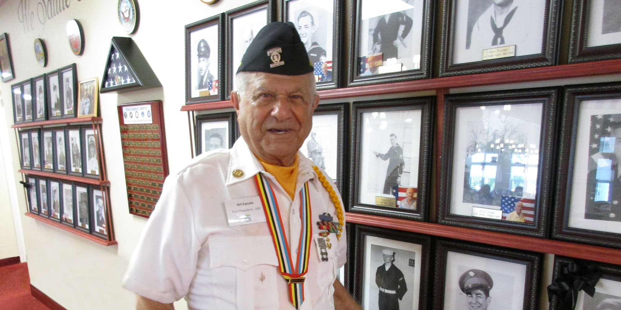 A veteran resident at Mulberry Gardens Memory Care in Munroe Falls, Ohio