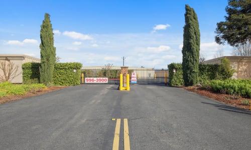 Carneros Self Storage Park Access Gate at storage units in Sonoma, California