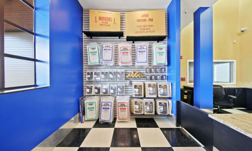 Supplies available at East Sac Self Storage in Sacramento, California