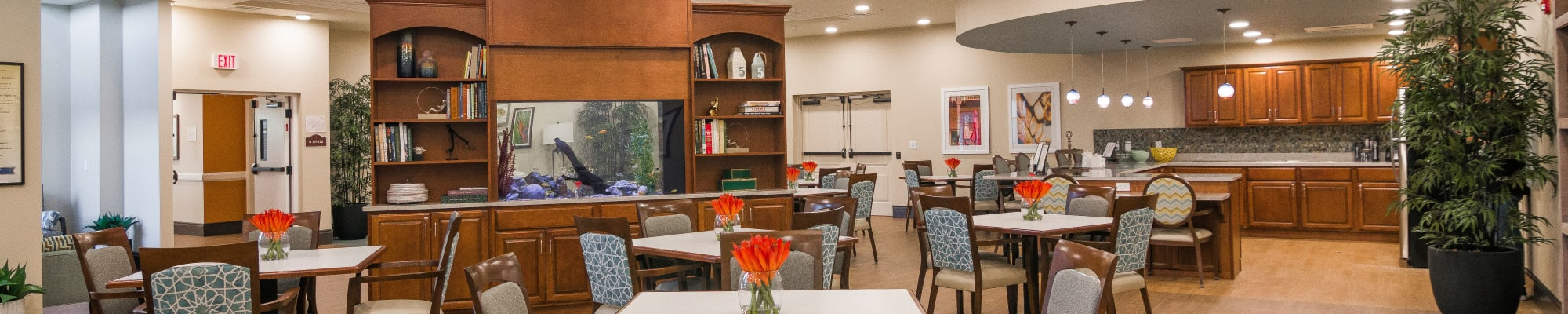 Dining at CERTUS Premier Memory Care Living in Vero Beach, Florida.