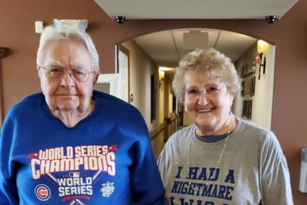 A cute couple at Villas of Holly Brook Shelbyville in Shelbyville, Illinois