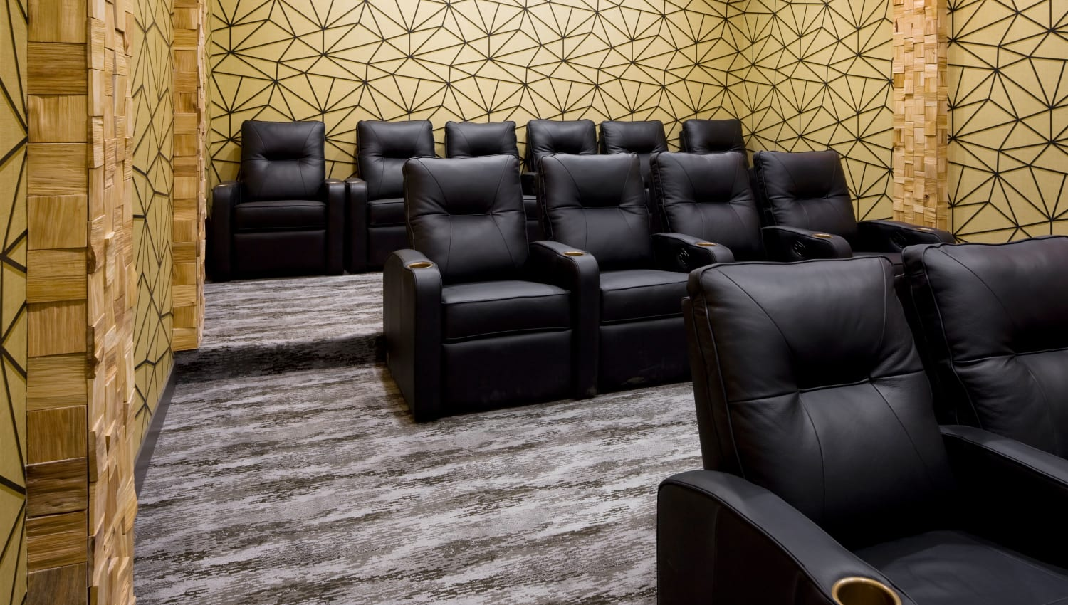 Theater room at Olympus Alameda in Albuquerque, New Mexico