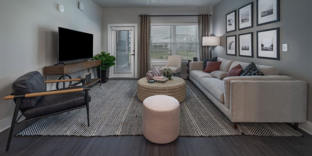Spacious living room in a model home at Reunion at 400 in Kissimmee, Florida