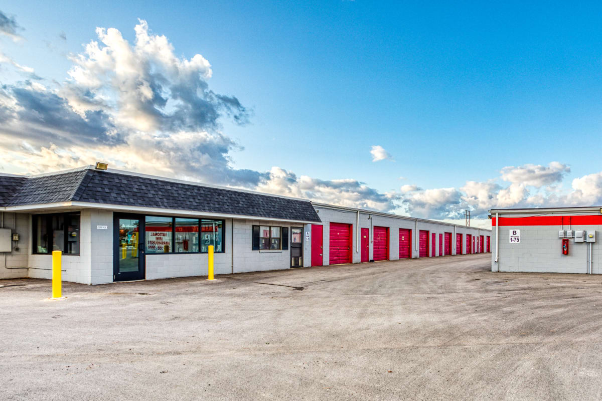 Large driveways and parking spaces at Devon Self Storage in Urbana, Illinois
