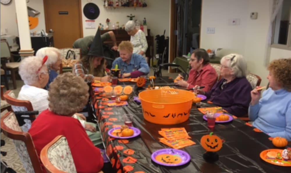 A Halloween party at Heritage Heights in Chelan, Washington