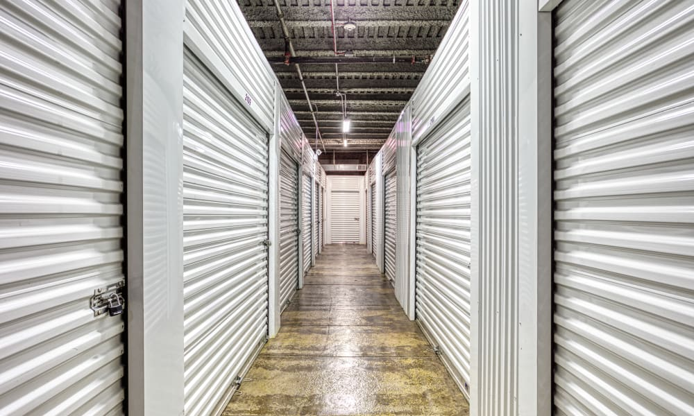 Climate-controlled storage units at Devon Self Storage in Chicago, Illinois