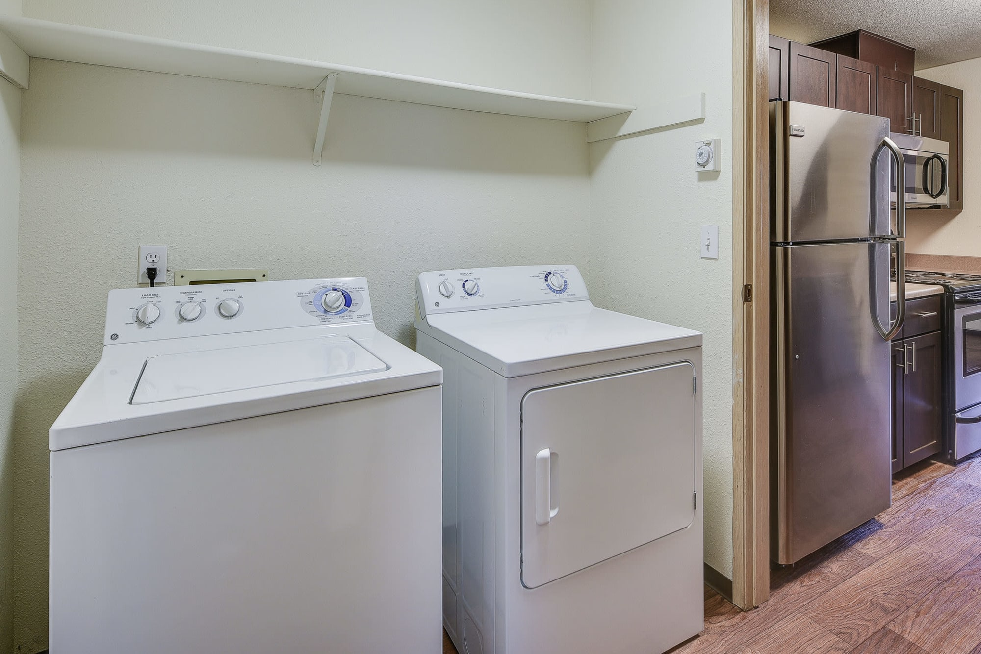 Washer and dryer at Renaissance at 29th Apartments in Vancouver, Washington